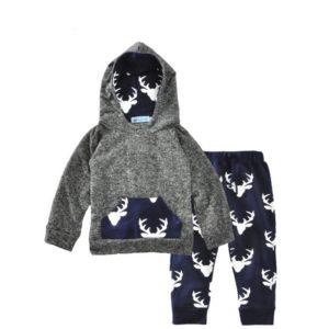 Winter Baby Reindeer printed Long sleeve Hoodie sweashirt