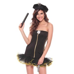 Women Adult Sexy Cop Halloween Fancy Dress