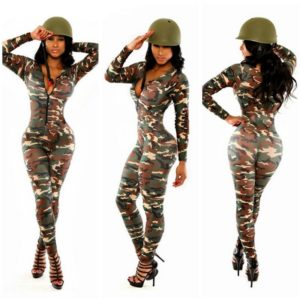 Women Army Uniform Costume Sexy Party Costumes Soldier Women Camouflage Color Halloween Masquerade costume