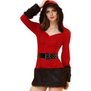 Women Christmas Dress with Hat