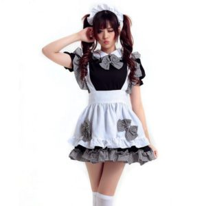Women Maid Cosplay Sweet Sexy Dress Halloween Costume