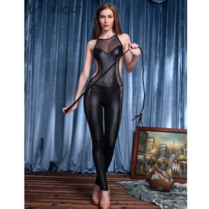 Women Sleeveless Bodycon Sexy Catsuit Women Party Costume Clubwear Jumpsuit Rompers Casual