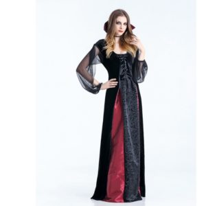 Women Vampire Costumes Cosplay Gothic Vampire Outfit The Queen Vampire Role Play Clothing