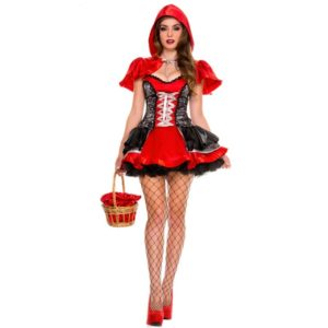 Womens Fairy Tale Little Red Riding Hood Costume For Halloween Cosplay Uniforms