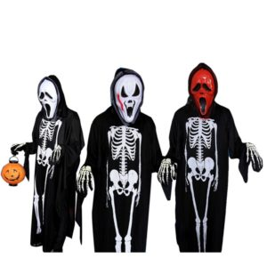halloween ghost scary costume mother daughter father son family clothing set include mask jumpsuit gloves